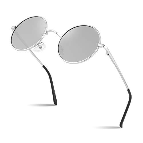 SUNIER Retro Round Polaroid Sunglasses Polarized John Lennon Glasses Men Women Small Size