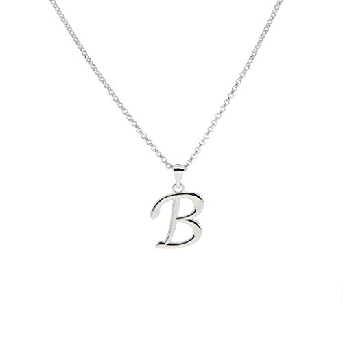 Silver Tone A-Z Alphabet Initial Letter Pendant Charms Necklace Link Chain Necklace Jewelry Crafting Key Chain Bracelet Pendants Accessories Best| Pendant Shape - - 45 Titanium Tooth