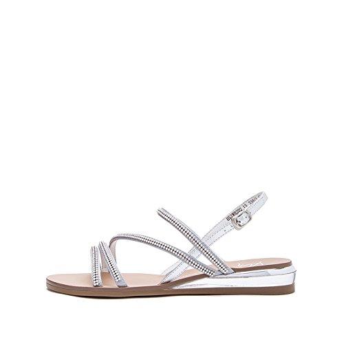tacco moda tacco basso Tacchi con Sandali alla 39 casual Sandali piatti Sandali Argento Pantofole donna estivi alti a da DHG basso ZY7qCwfc