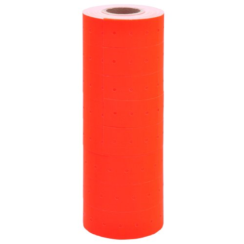 (Fluorescent Red Labels with No Tamper Proof Slits to fit Towa GS Series/Halmark/Century Price Guns 16 Pack (Free Ink roll Included) )
