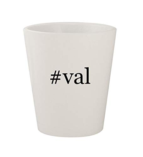 Used, #val - Ceramic White Hashtag 1.5oz Shot Glass for sale  Delivered anywhere in USA