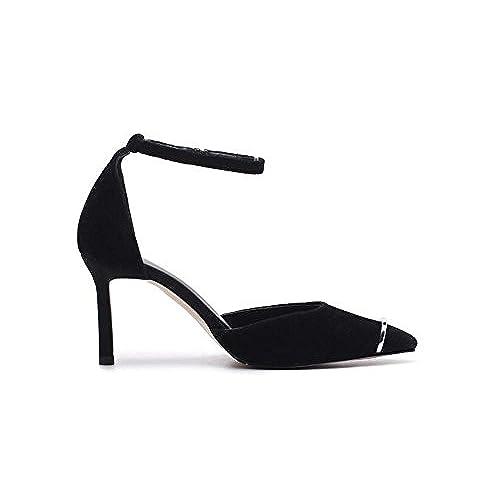a28f7156 En venta QXH Zapatos de Mujer Sandalias de Tacón Puntiagudo Boca  Superficial de la Hebilla del