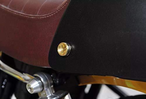 Triumph Tool Free Seat Cowl Bolts Thruxton Bonneville Scrambler T100 Brass ()