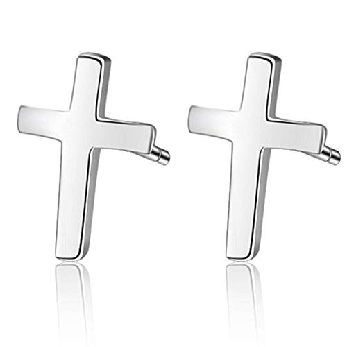 (Cross Stud Earrings for Girls 925 Sterling Silver Earrings Religious Women Earrings Fine Jewelry Her Mothers Teenage Goddaughter Gifts from Godmother Mother's Day Gifts Wife Girlfriend)