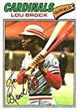 1977 Topps Regular (Baseball) Card# 355 lou brock of the St. Louis Cardinals VG Condition