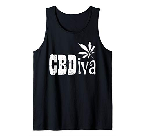 CBDiva Funny CBD Diva Hemp Oil Weed Cannabis Women Mom Gift Tank Top (Best Tank For Cannabis Oil)