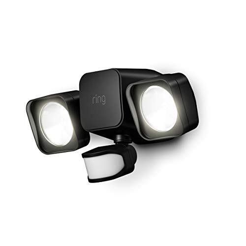 (Introducing Ring Smart Lighting -  Floodlight, Battery - Black)