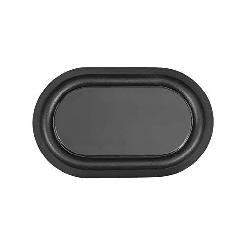 uxcell スピーカーパッシブラジエーター振動板 サブウーファーの振動膜 80x50mm ブラック