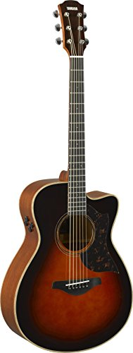 Yamaha 6 String Series AC3M Small Body Cutaway Acoustic-Electric Guitar-Mahogany, Tobacco Sunburst, Concert TBS