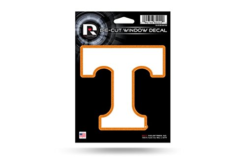 Rico Industries NCAA Tennessee Volunteers Bling Die Cut Window Decal with Glitter Accent