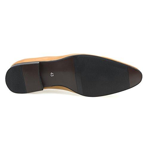 Mm / Un Hommes Chaussures Occasionnels Oxford Chaussures Robe Sheos Lace Up Classique Moderne Noir Brun Foncé Chmpt112-4brown