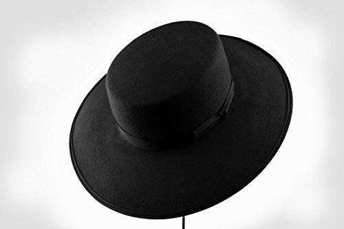 Black Fur Felt Bolero Hat