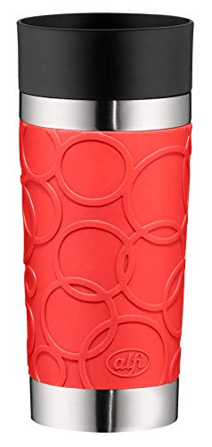 Alfi Thermos Cup, Stainless Steel, Stainless Steel, red, 8,2 x 8,2 x 19,0 cm