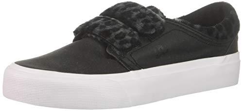 DC Women's Trase V TX SE Skate Shoe Black/Leopard 10 B M US (Best Snow Skate Shoes)