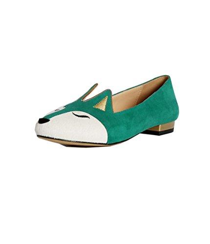 ZFNYY Zapatos de Boca Baja Zapatos Planos Redondos de Mujeres luchan Zapatos de Color Lindo Juguetón