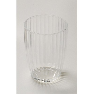 Carnation Home Fashions Ribbed Acrylic Tumbler, Clear