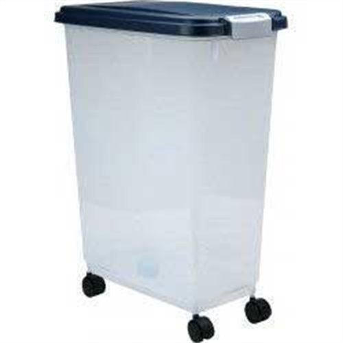 IRIS Airtight Pet Food Storage Container, 47 Quart, Navy, My Pet Supplies