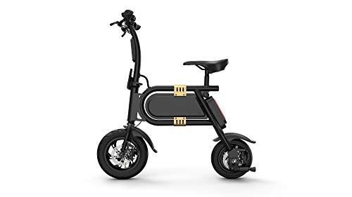 Fluxx MW1 E-Bike - 350W Slim Profile Folding Electric Bike - 15mph - 7 Miles + Range