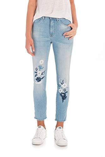 Salsa Jeans Secret Glamour capri con ricamo Azzuro
