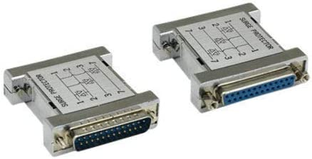 Kentek DB25 25 Pin Molded 3MOV Surge Protector Serial Parallel Male to Female M//F RS232