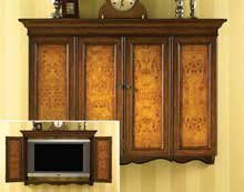 Ordinaire Burled Wood Flat Screen TV Television Wall Cabinet