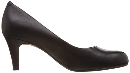 Black Fermé Escarpins Bout Clarks Abe Noir Leather Femme Arista xOInzH0