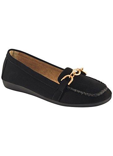 Carol Wright Gifts Lala Loafer, Color Black, Size 10 (Wide), Black, Size 10 (Wide)