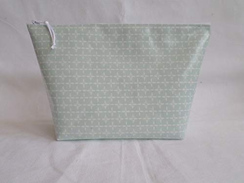 636c2454d8d0 Handmade Large Oilcloth Make Up Bag/Toiletry Bag - John Lewis Duck Egg Blue  Ditton Fabric: Amazon.co.uk: Handmade