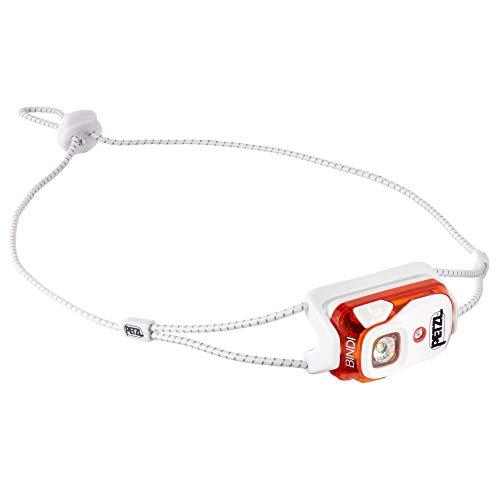 PETZL - Bindi, 200 Lumens, Ultralight, Rechargeable, and Compact Headlamp for Urban Running, Orange