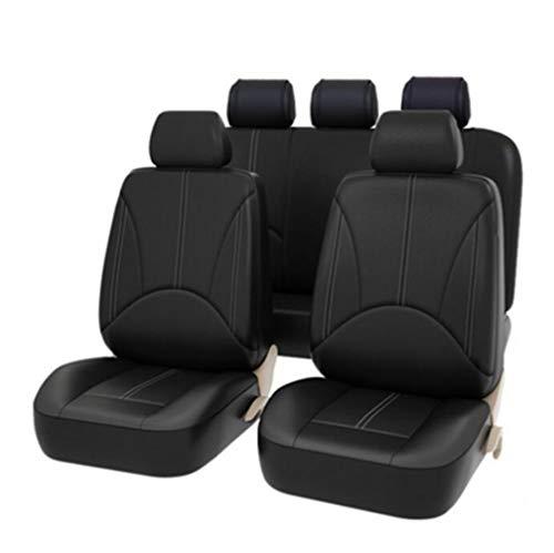 YZ-YUAN Cubiertas universales Cojín del Asiento de Coche Juegos de cubreasientos Completo clásico Negro airbag Compatible,...