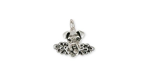 Airedale Terrier Jewelry Sterling Silver Airedale Terrier Charm Handmade Dog Jewelry AR16-AC