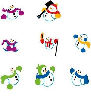 (Snowmen Chart Stickers)