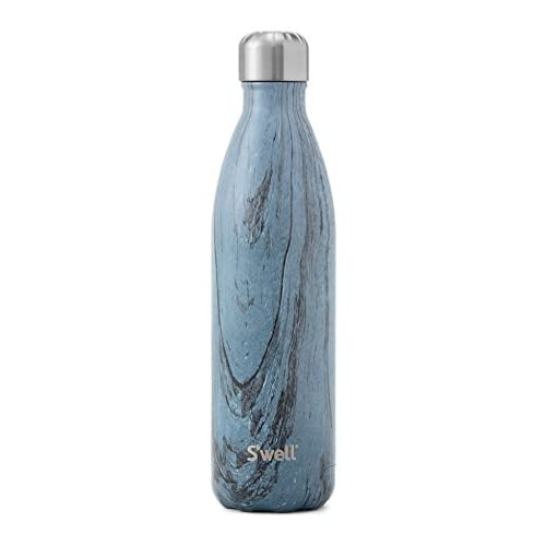 S'well Vacuum Insulated Stainless Steel Water Bottle, Double Wall, 25 oz, Dark Forest
