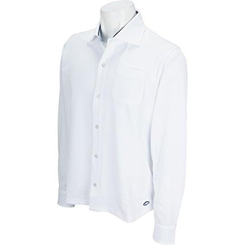 フィドラ FIDRA 長袖シャツ?ポロシャツ ホリゾンタルカラー長袖シャツ ホワイト XXL