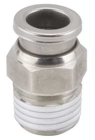 1/4'' x 13/32'' Tube x R(PT) SS Male Adapter by SMC