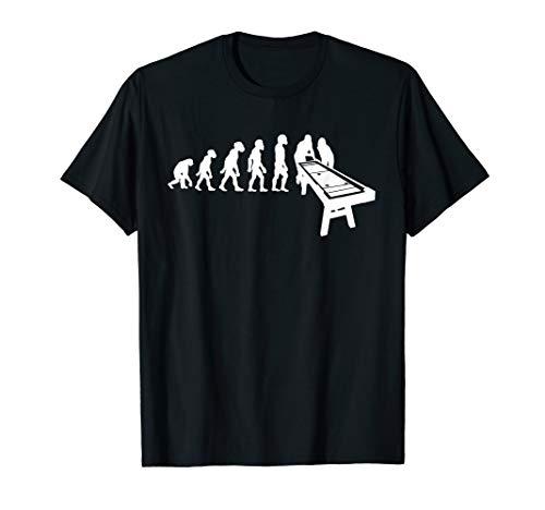 Funny Human Shuffleboard Player Evolution Deck Retirement T-Shirt