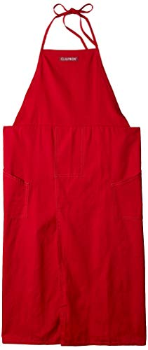 (CLAYPRON Artist Kitchen Split overlapped Apron (Red))