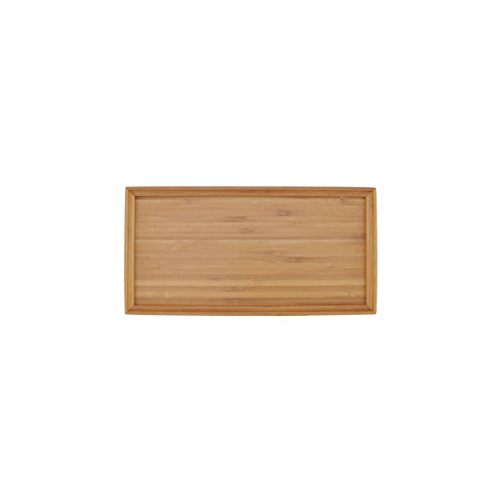 "Organic Bamboo Tea Serving Tray - 11""x5.5""x0.6"" - 1 Piece"