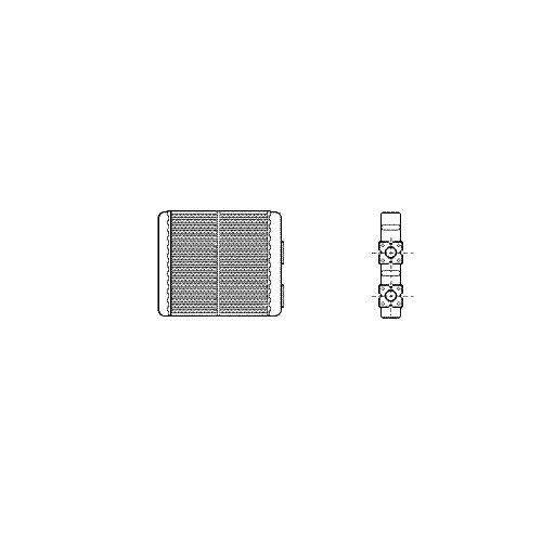 VAN WEZEL 13006226 Scambiatore calore Riscaldamento abitacolo
