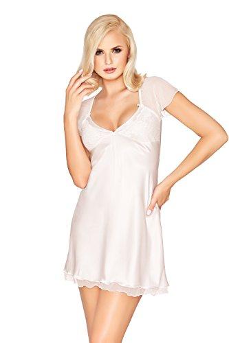 Postero PN005 ababol camisón o cama de matrimonio lencería muñeca raso Light Ecru