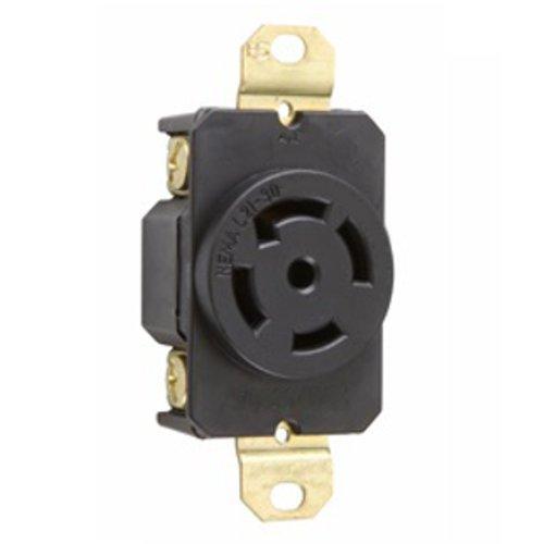 OCSParts L21-30LR Grounding Locking Receptacle, 30A 120/208V AC, 4 Pole 5 Wire, cUL Listed, NEMA L21-30
