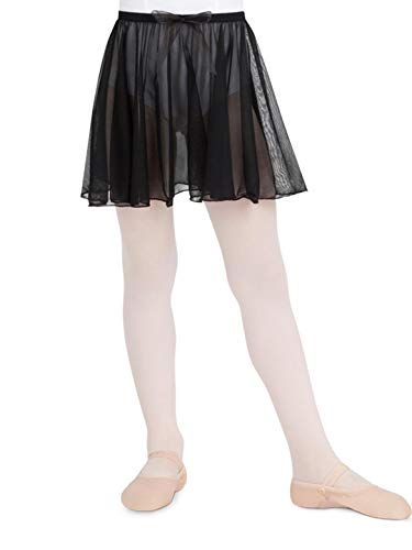 Capezio Little Girls#039 Children#039s Collection Circular PullOn Skirt Black Small