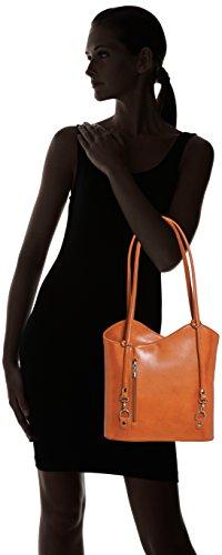 Orange Femme Porté Sac Cuoio Borse épaule Chicca wqpgxFW8I