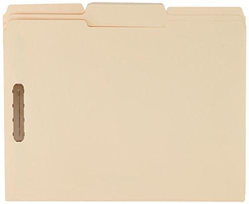 AmazonBasics Manila File Folders with Fasteners - Letter Size, 100-Pack by AmazonBasics (Image #3)