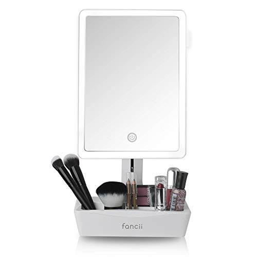 Fancii LED Lighted Large Vanity Makeup Mirror with 10X Magnifying Mirror - -