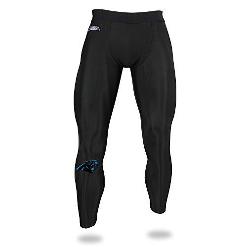 Zubaz NFL Carolina Panthers Men's Solid Team Leggings, Black, -