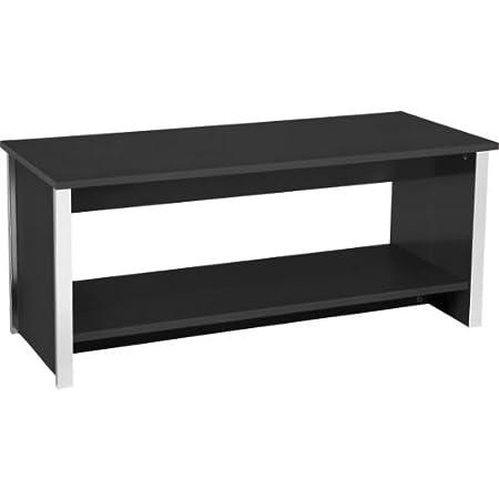 Maxi Genova Coffee Table Black with accompanying HSB Microfibre