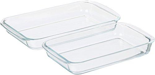 AmazonBasics Glass Oblong Baking Dishes - 2-Pack by AmazonBasics (Image #2)
