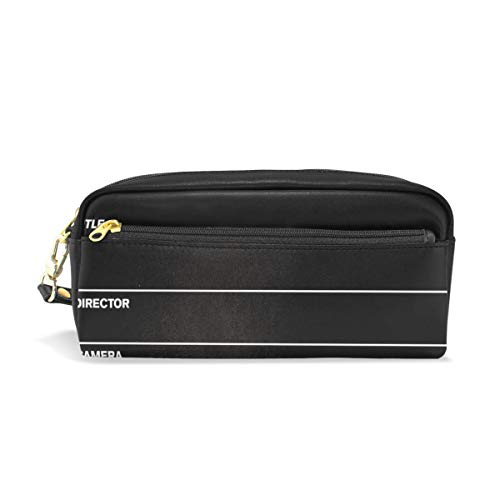 Pencil Case/Makeup Bags Movie Clapboard All Black Big Capacity Portable Pencil Bag for College/Women/Adults