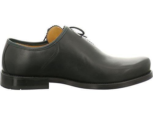 dirndl + bua , Chaussures de ville à lacets pour homme noir noir/vert